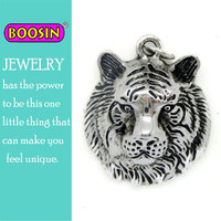 Custom zinc alloy animal head shaped jewelry lion head pendant