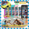 2015 new design IP68 PC waterproof phone case with lanyard for Iphone6/6 Plus