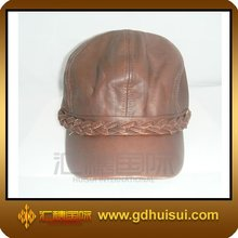 hign quality mens leather baseball cap