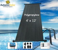plastic solar pool water heater collectors popular in Australia