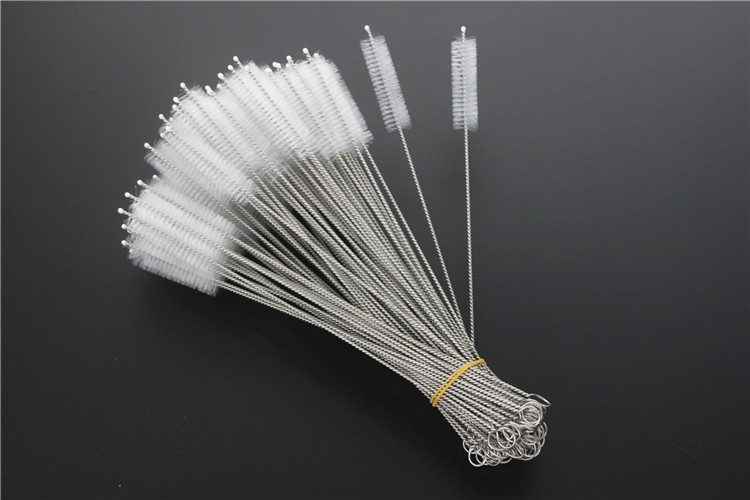230mm stainless steel straw brush for bamboo straw cleaners/silicone straw cleaning brush/ custom coconut straw