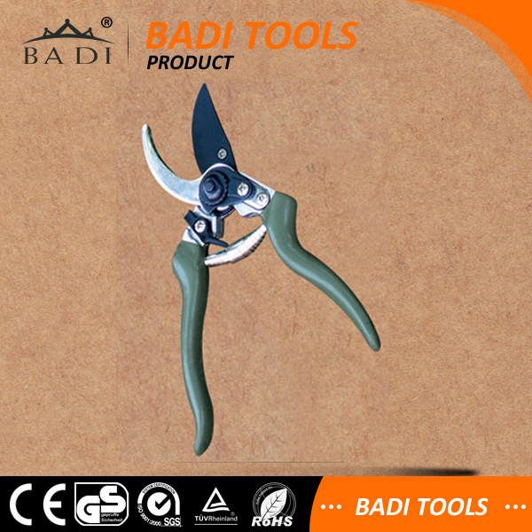 High Quality Titanium Coated 8-inches Bypass Pruning Shear with plastic coating & Soft TPR Grips
