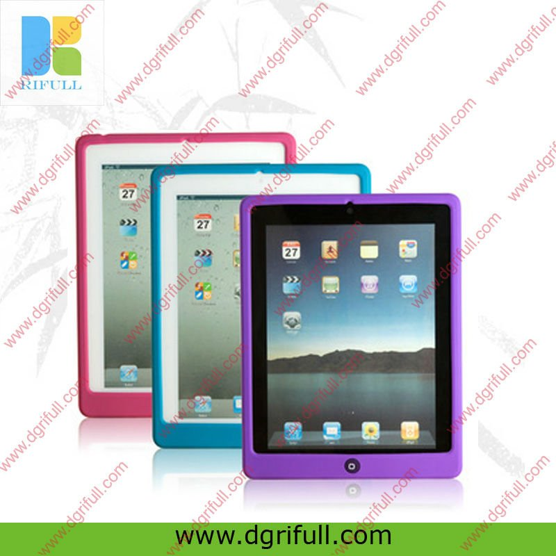 Hot Plain color silicone case for ipad