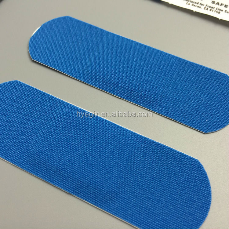 High Quality Blue Elastic Fabric Band Aid for Food Processing Industry CE FDA Approved