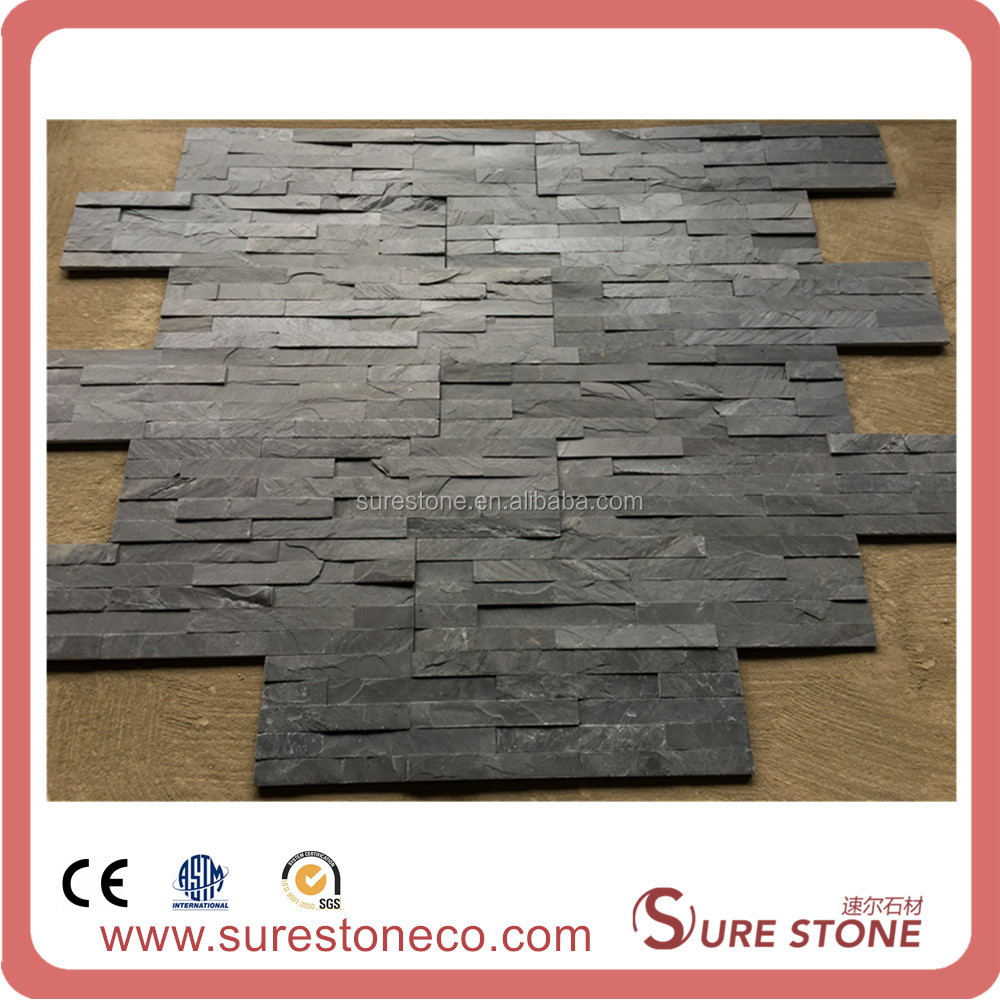 black slate stone Nature Black Decoration Stone Roof/Stone Flooring/Stone Wall Tile Slate