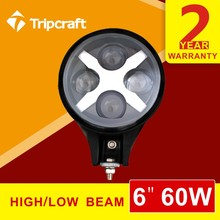 Top quality headlamp round 6 inch 60w high/ low beam for j eep led headlight with IP67