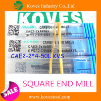 dental bur 2 flutes square end mill for tools cut machine