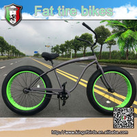 2015 new style steel beach cruiser fat tire bike