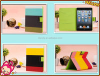 Three colors wallet style leather pouch for iPad mini case