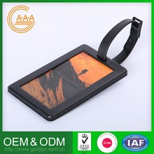 Reasonable Price Oem Odm Silicone Hang Tag For Luggage Various Designs Silicone Photo Luggage Tag