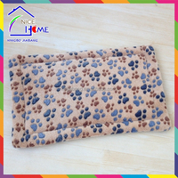 Paw print reversible fleece stuffed wholesale pet bed