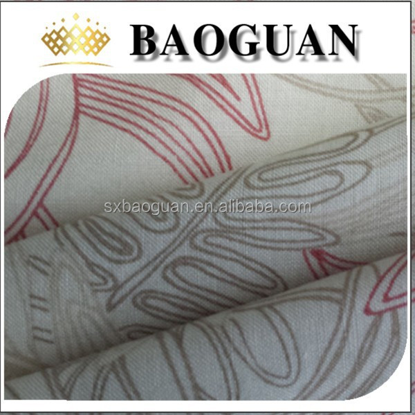 2015 high quality Woven ramie cotton printed fabricBG1342