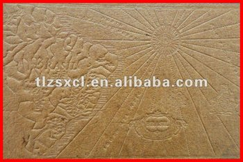 Factory direct sale artificial embossed leather raw material