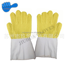 2015 Heat and cut resistance gloves with canvas sleeve