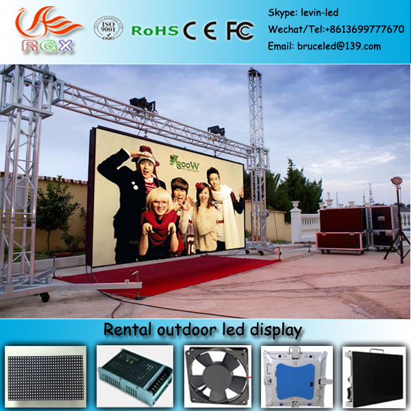RGX Energy saving full color HD LED video display screen hang rental moving advertising led screen outdoor