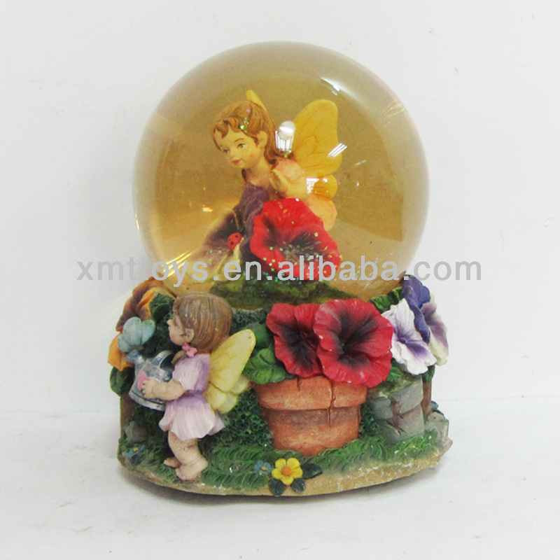 the butterfly angel water globe
