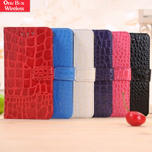 Hot Selling 2015 Crocodile Skin Design PU Leather Wallet Case Cover with Magnetic Flap Closure Cover for Blackberry Z10