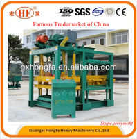 for small family business to do QTJ4-25B concrete block making machine