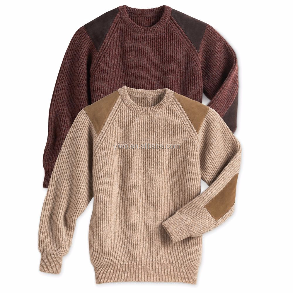 Casual pullover knitted old fashion crew neck sweater for men