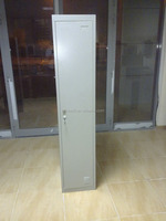 Metal Single Door Locker with Mirror and Clothes Hanger