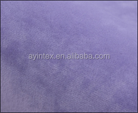 various color polyester super soft velvet fabric/short plush fleece fabric material for sofa,bedding,baby blankets