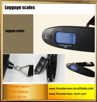 New Design 40kg Electronic Luggage Scale with blue LED backlight for suitcase,travel,shopping