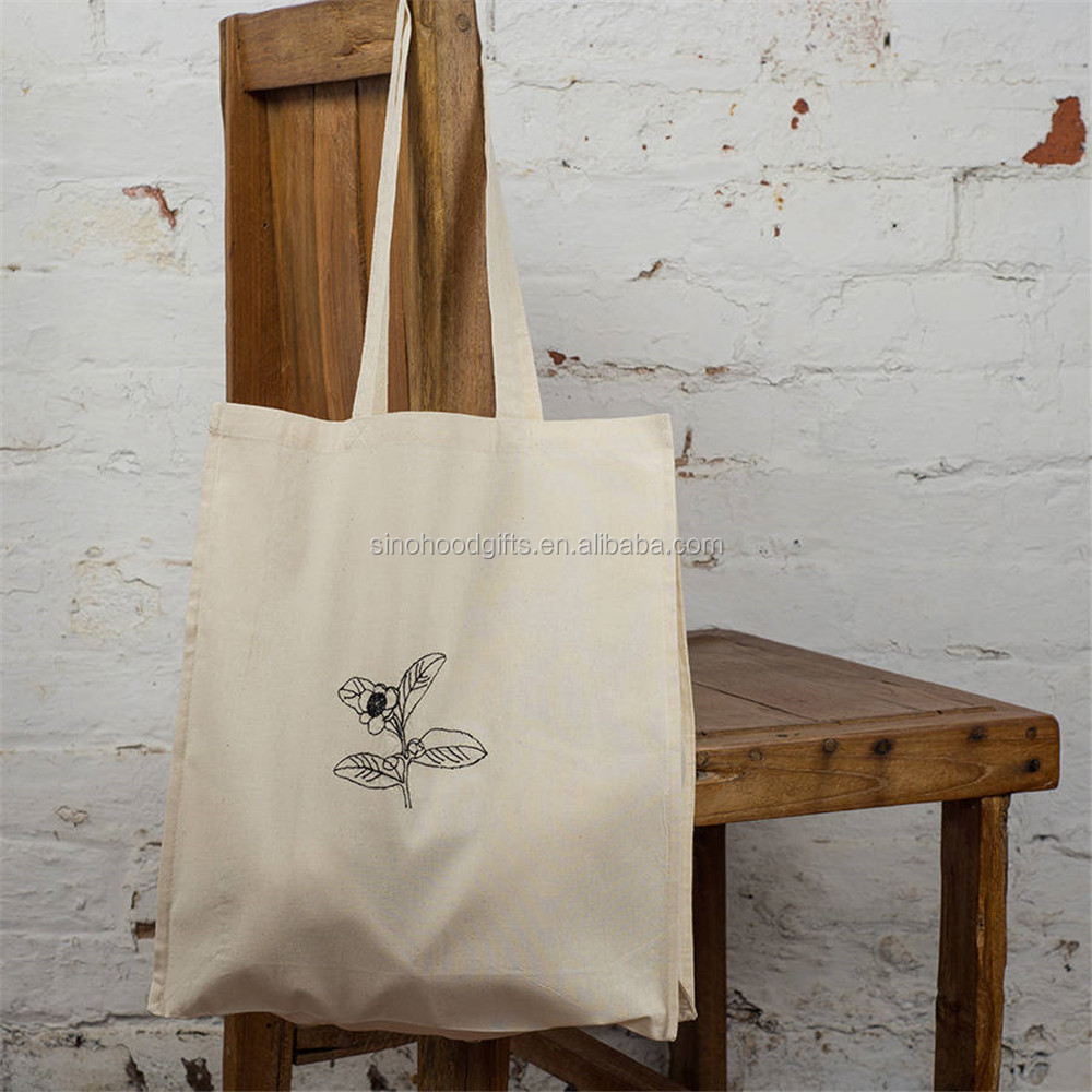 alibaba high quality Tea Plant Botanical Art Tote wholesale cheap shopping bag