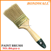 white boiled bristle all size set paint brush popular painting tool pig hair paint brush Wooden brush