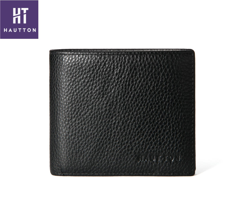 Fashion new style black mens leather slim card wallet