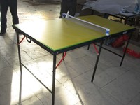 Multifunction Mini Single Folding Indoor Portable Table Tennis Table /Ping Pong Table