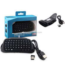 2.4G Mini USB Receiver Chatpad Message Wireless Keypad Keyboard for PS4 Controller