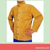 Hot sale! welding clothing with leather sleeve