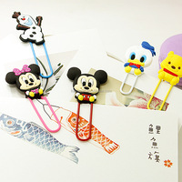 Fashionable sweet style fancy shaped soft pvc custom paper clip