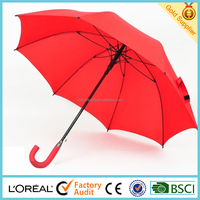23 inch cheap promotional umbrellasl with fiberglass frame and eva handle in shenzhen factory