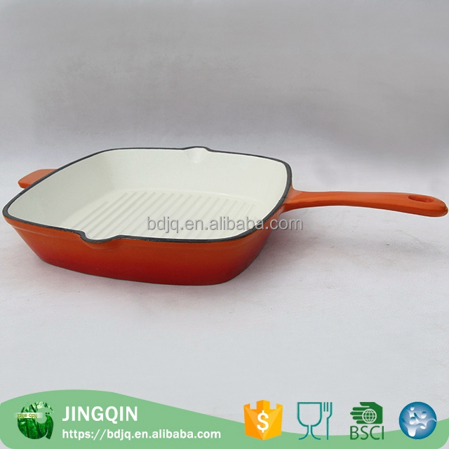 New product white enamel cast iron cookware Frying Pans