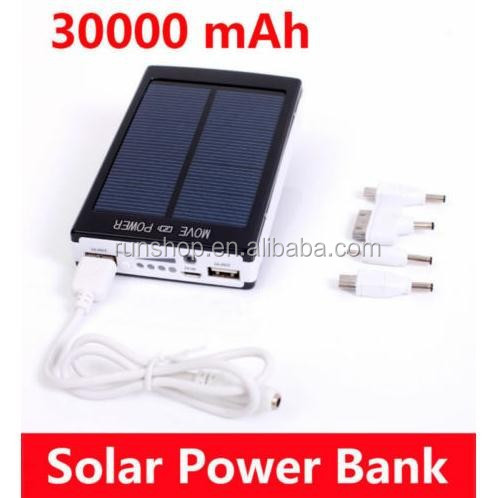 Universal Power Bank Dual USB Portable 30000mAh Solar Battery Charger