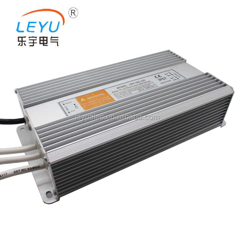 High Reliability IP67 Design 150w waterproof electronic led driver LDV-150 single output power supply