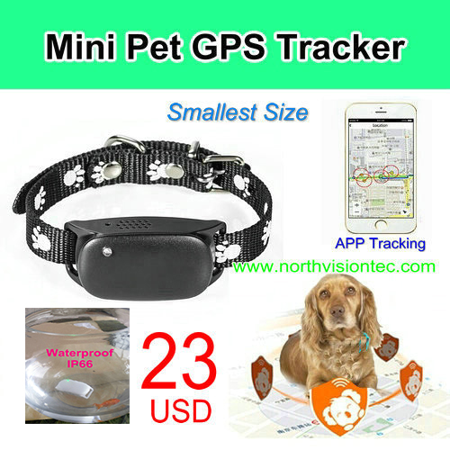 Only 23 dollars! New Mini GPS/GSM/GPRS Device Tracking pet GPS Tracker Locator SOS Alarm for dog/cat