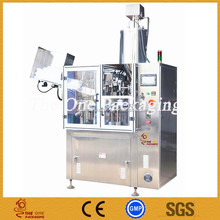 TOFS-40A Cosmetics Cream Flat Soft Tube Filling Sealing Machine with Mixer