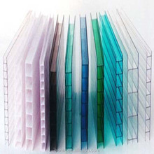 Plastic Advertising Light Quality Blue Hollow sheeting pc lexan polycarbonate sheet price from China factory suppliers