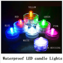 Free shipping Waterproof Wedding Underwater Battery Sub LED candle Lights multicolor (Pack of 12)