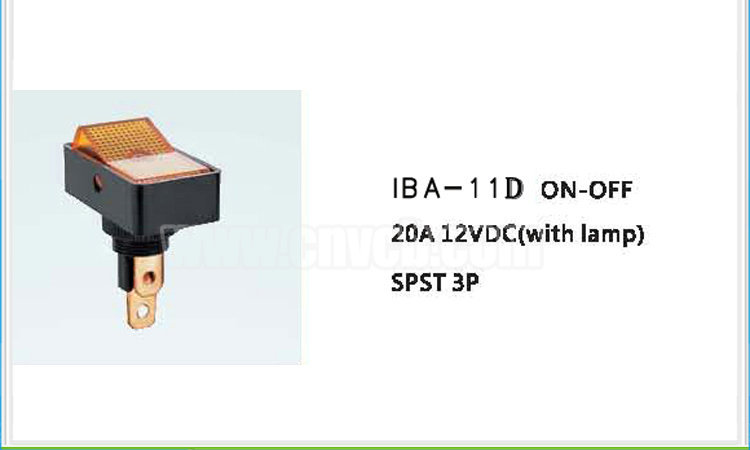 AS14 Automotive switch with lamp IBA-11D 20A 12VDC SPST 3P LED Automotive Switch