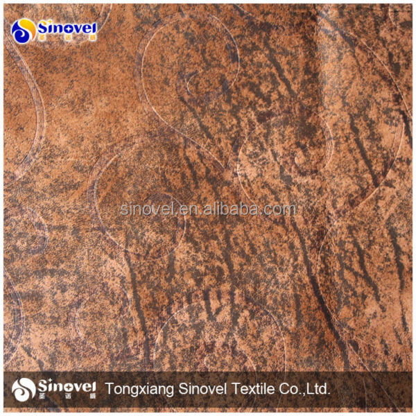 bronzing suede bonded with backing fabric/embossed fabric