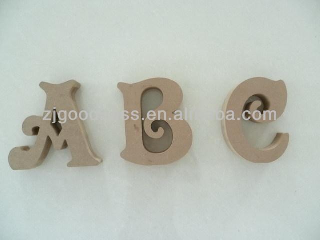 Hot Sale 7h Unfinished Wooden Alphabet Letters