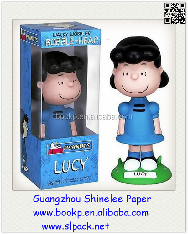 Custom Small Cardboard Paper display box with pvc window/toy package box with window