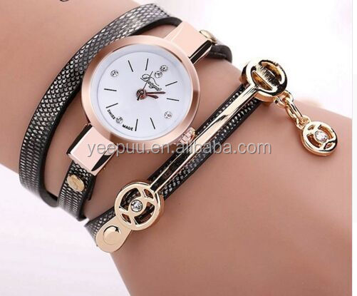 Fashion cheap Leather band Casual Bracelet women Watches