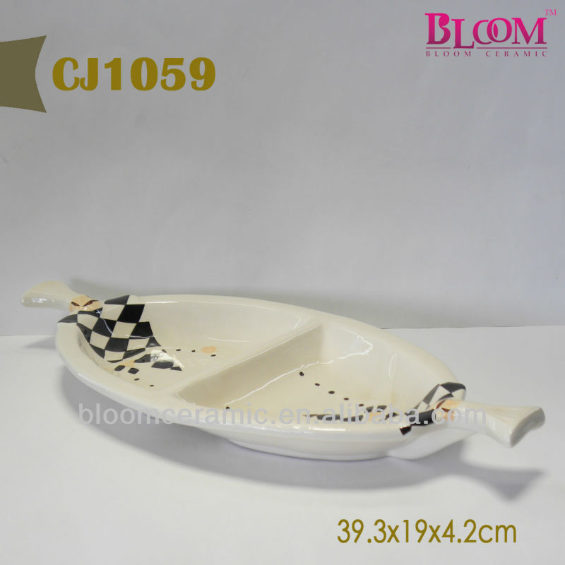 Ceramic divided plates dishes