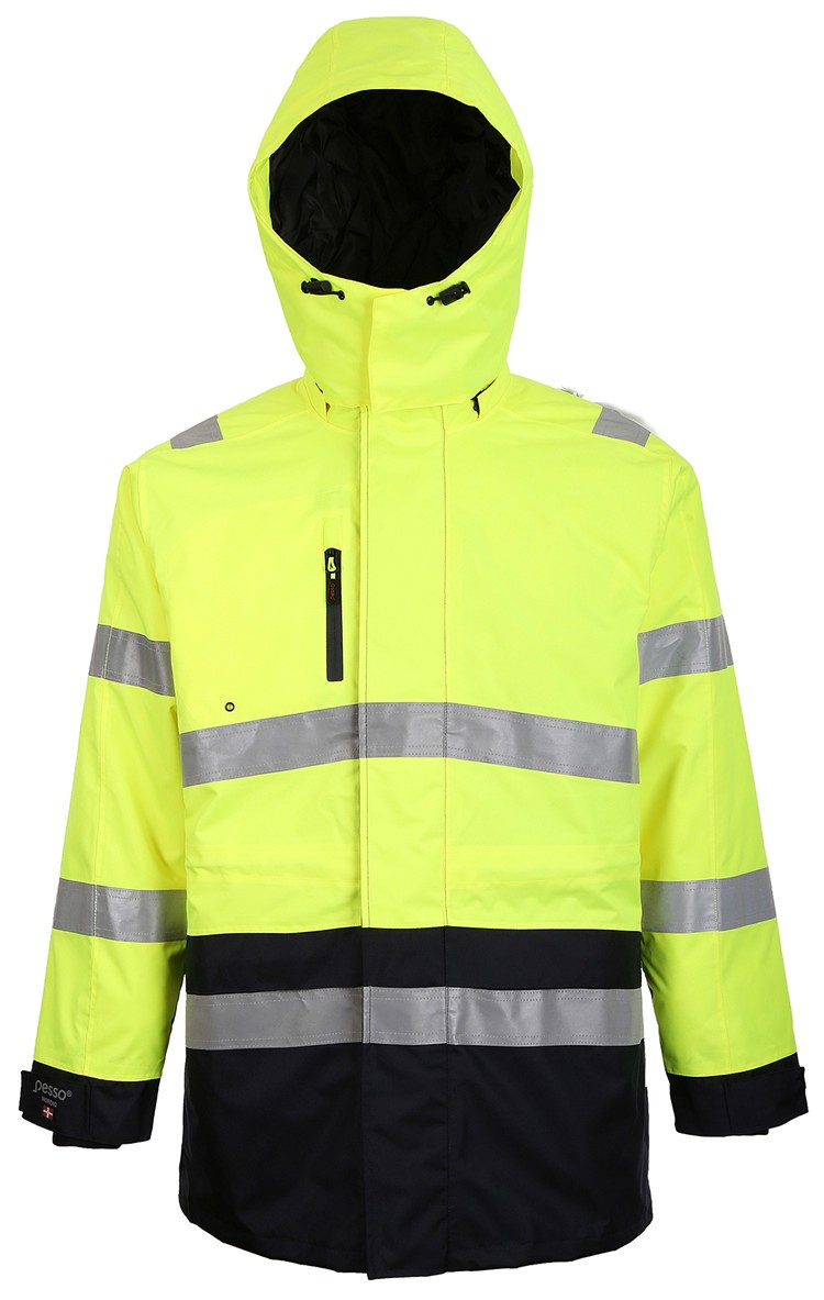 polyester Padded workwear jacket coat winter HV jacket