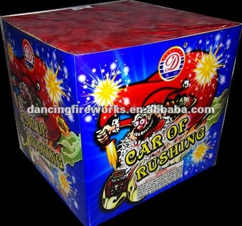 25 Shots Square Shape Cake fireworks