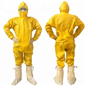 Type 3/4/5/6 disposable chemical protective clothing/coverall/workwear/jumpsuit